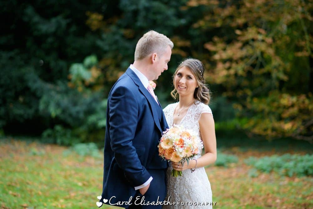 Informal and natural wedding photography at Lains Barn