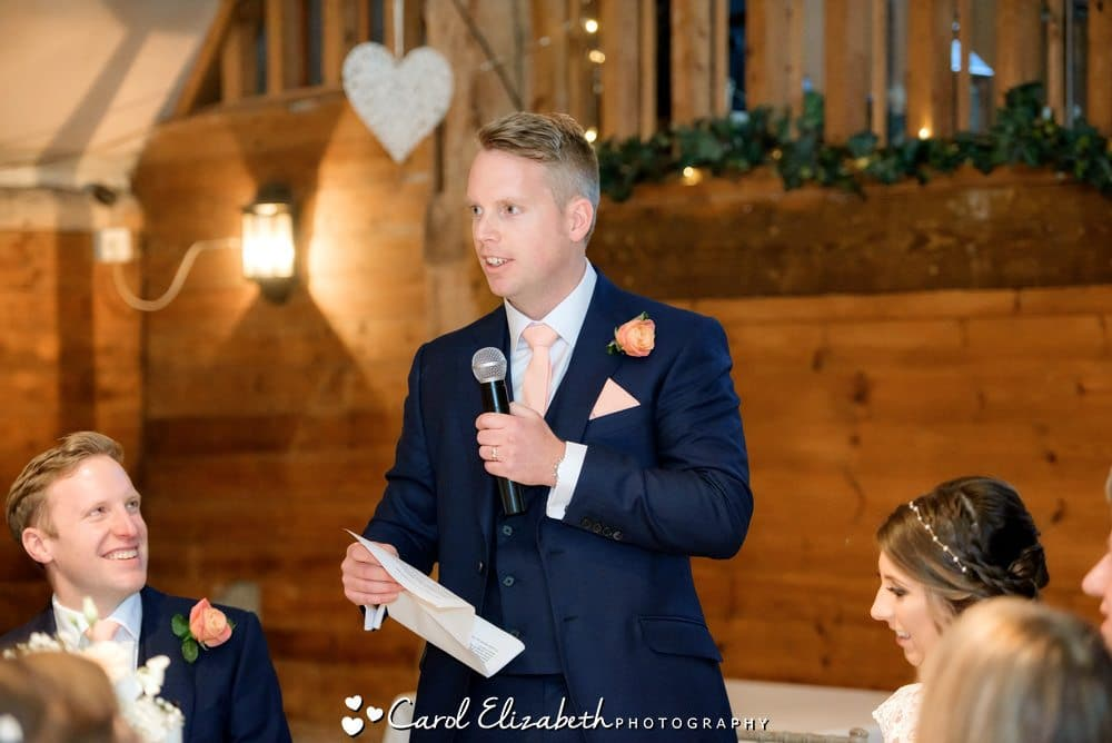 Wedding speeches by Oxford wedding photographer