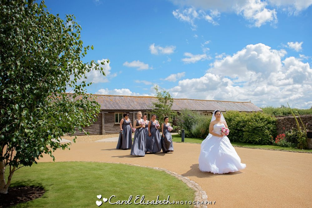 Bride and bridesmaids at Caswell House