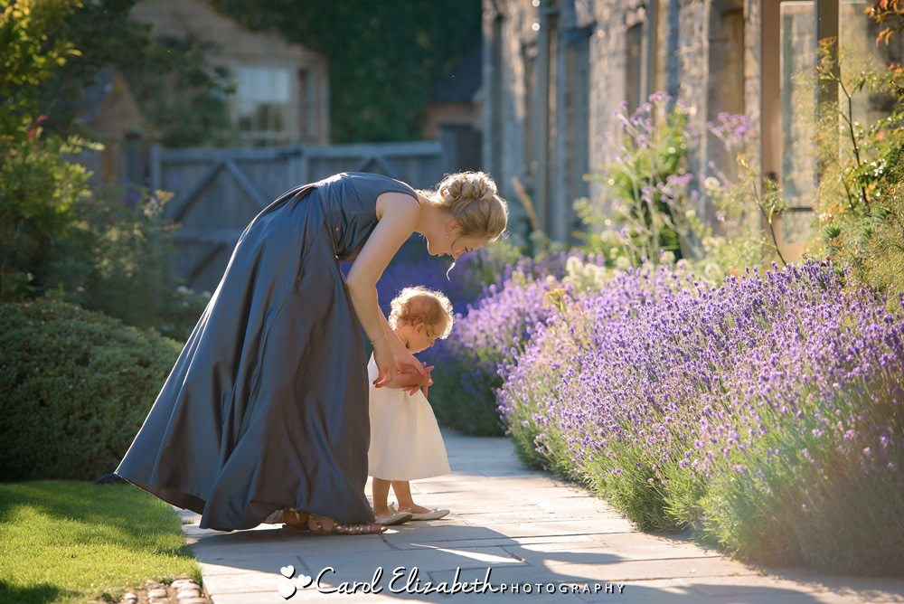 Bridesmaid and daughter at Caswell House wedding