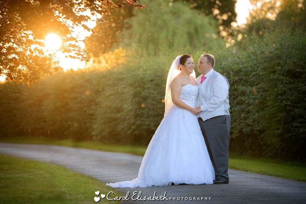Sunset at Caswell House wedding by Carol Elizabeth Photography