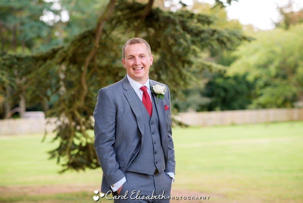 Wedding photographer in Oxfordshire - groom portrait