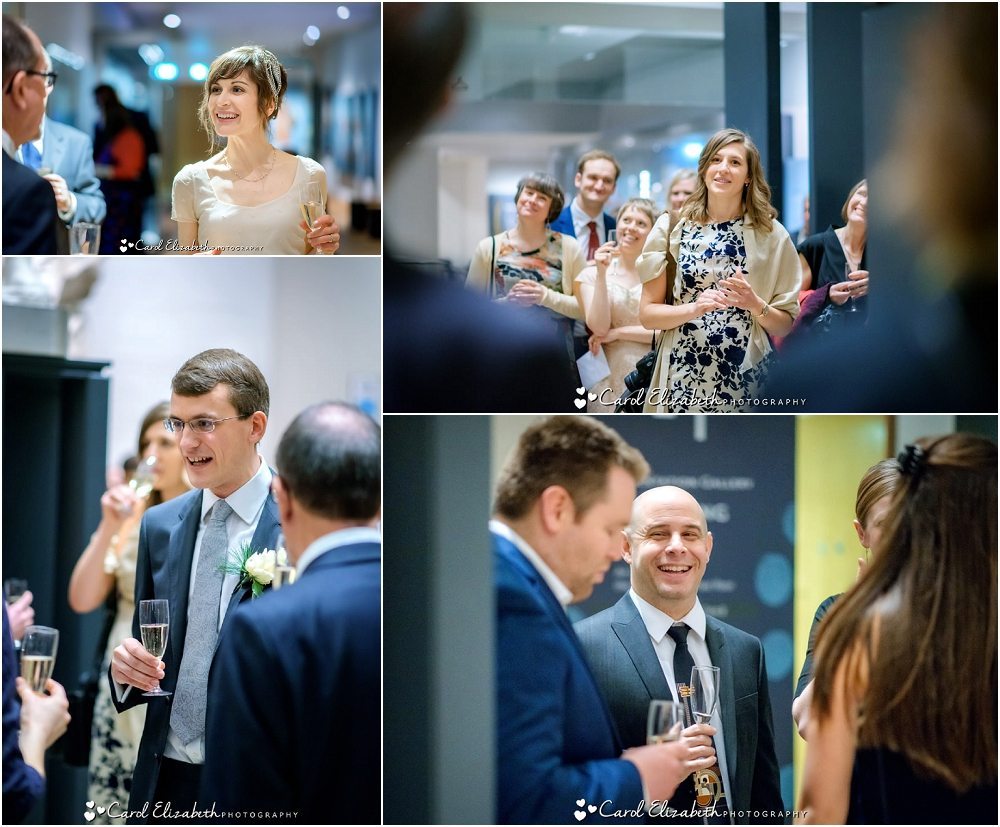 Candid wedding moments during Ashmolean wedding reception