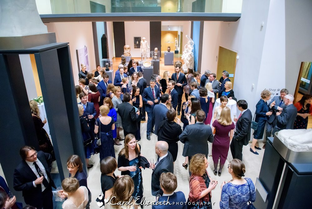 Guests celebrating at the Ashmolean