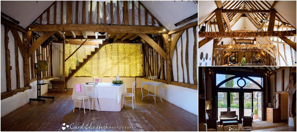 Inside Old Luxters wedding venue