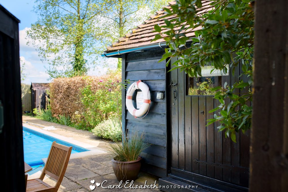 The pool house at Old Luxters Barn