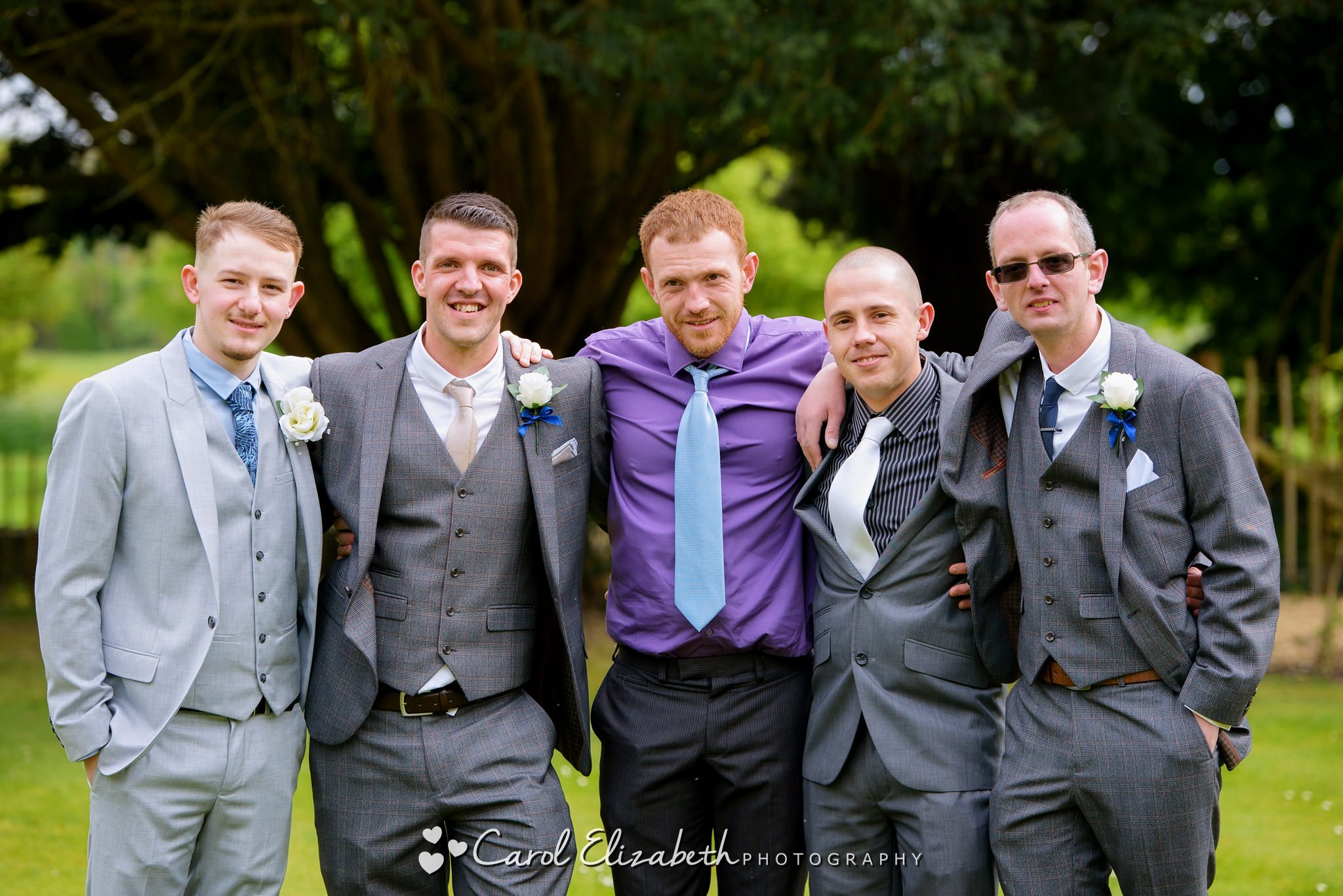 Groom and friends informal photo