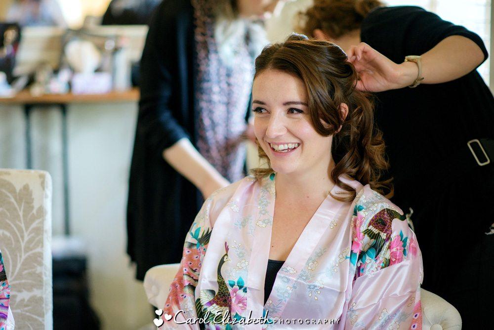 Wedding hair and make-up preparations