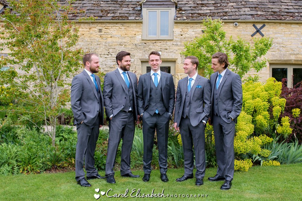 Groom and ushers before the wedding