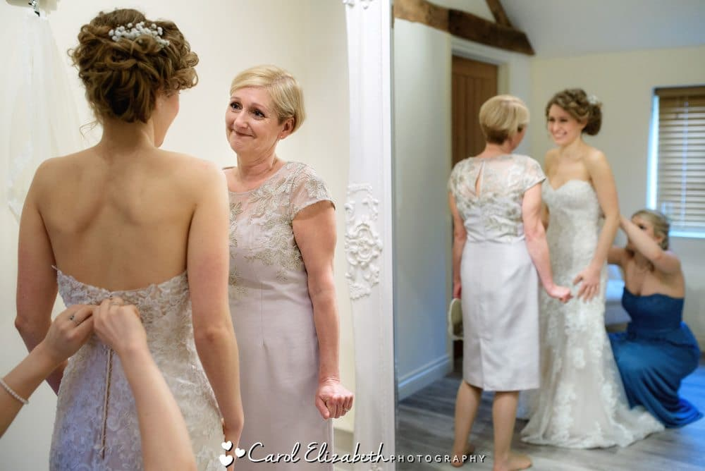 Bride and mum - Caswell House wedding photography