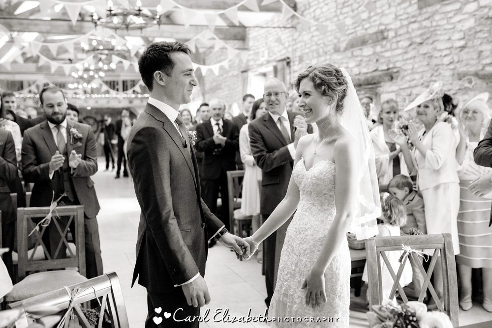 Civil wedding ceremony at Caswell House in Oxford