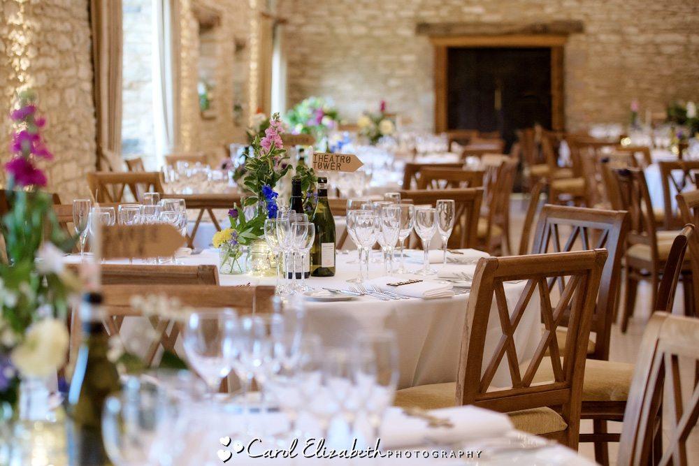 Wedding reception at Caswell House wedding venue