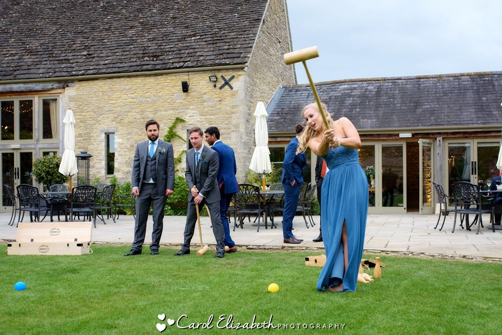 Lawn games at Caswell House wedding