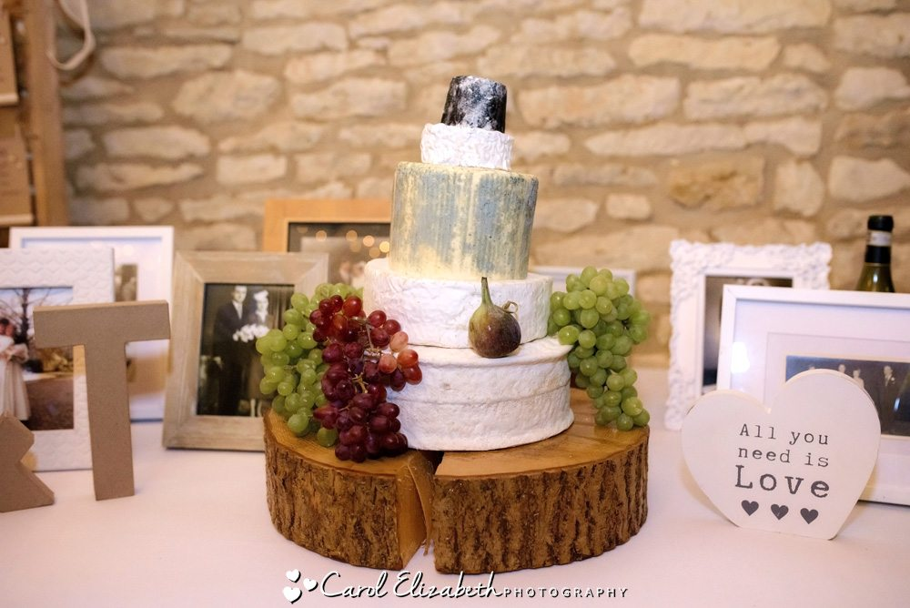 Cheese and grapes wedding tier