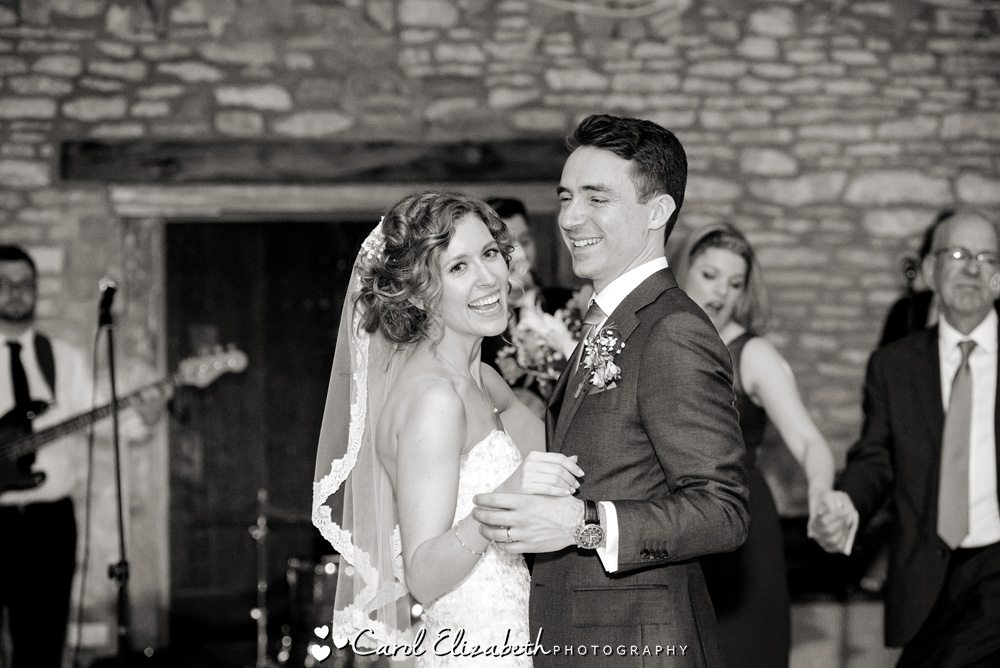First dance at Caswell House wedding venue
