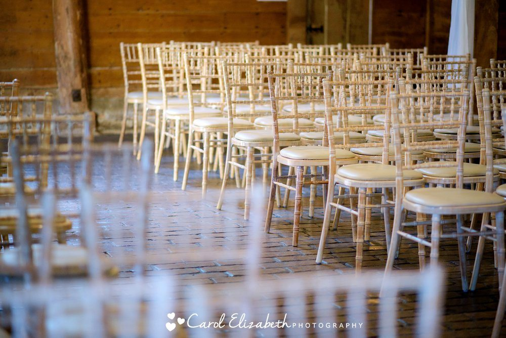 Wicker chairs at Lains Barn