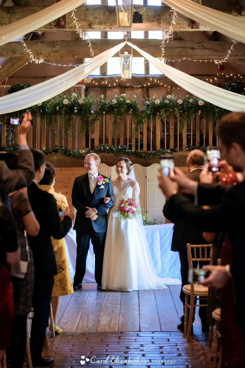 Wedding ceremonies at Lains Barn