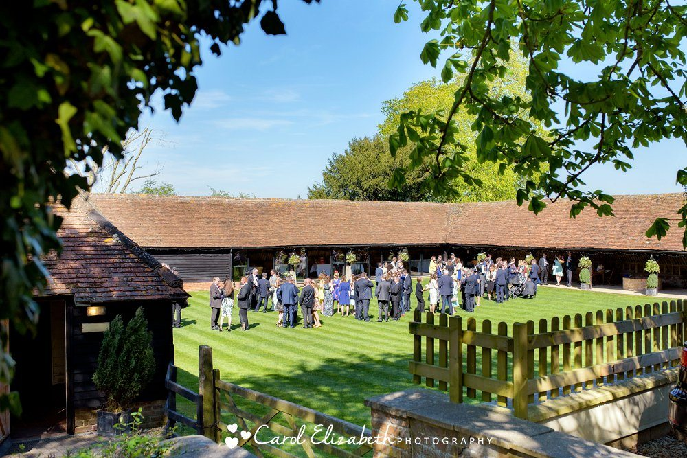 Lains Barn wedding in the sunshine