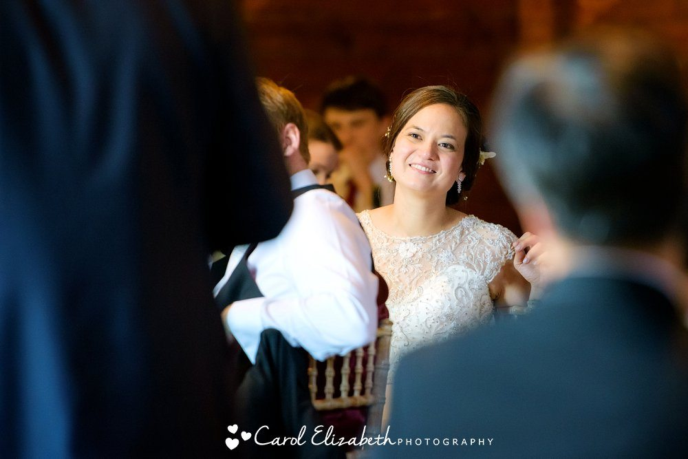 Natural and informal wedding photography at Lains Barn