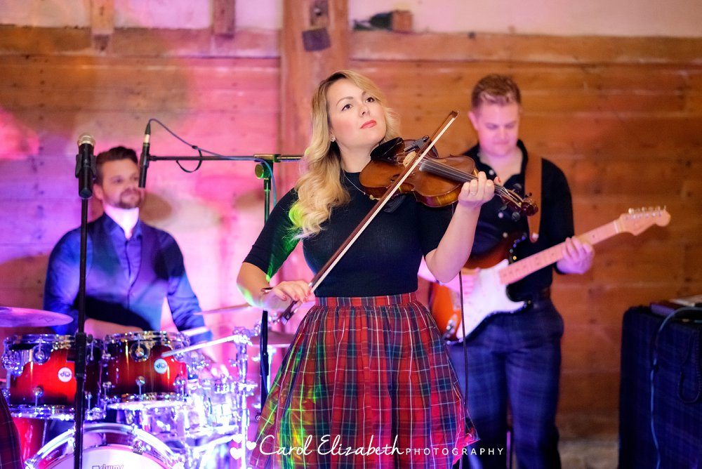 Ceilidh Band at Lains Barn wedding reception