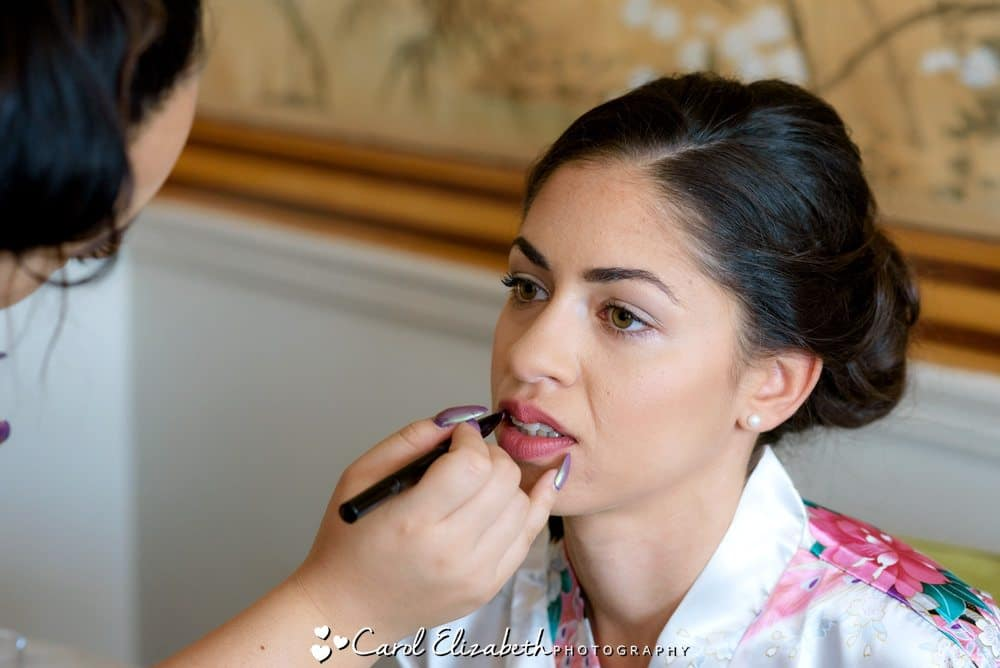 Wedding make-up at Eynsham Hall