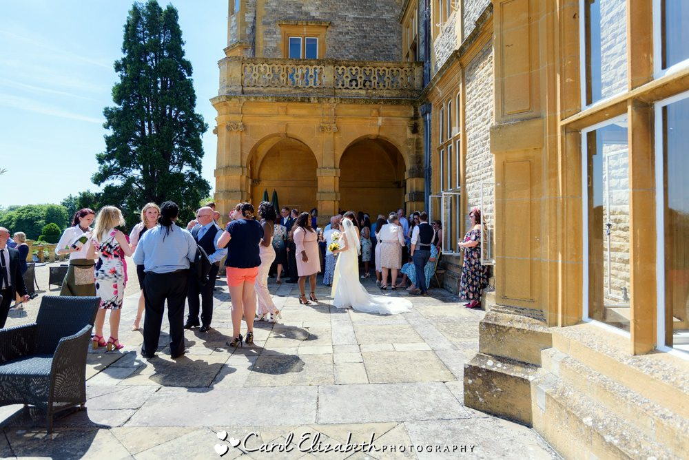 Guests at Eynsham Hall wedding