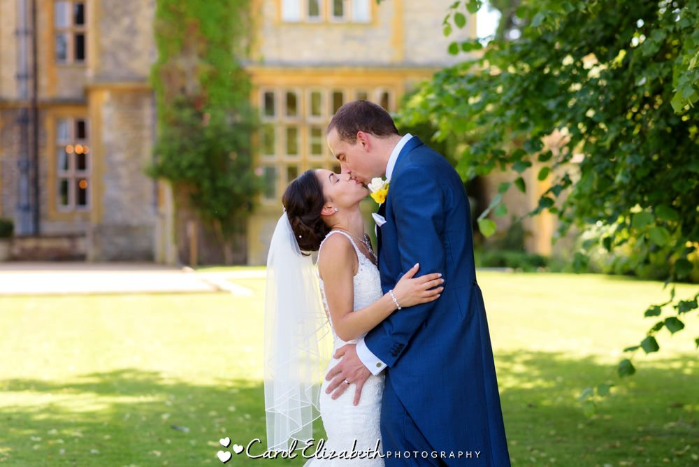 Bride and groom at Eynsham Hall wedding