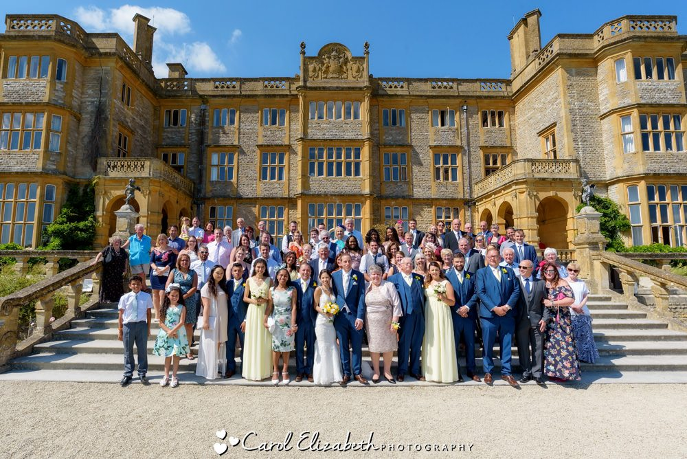 Eynsham Hall weddings - group photo