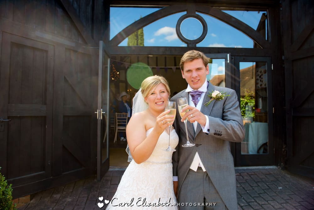 Weddings in summer at Old Luxters Barn in Hambledon