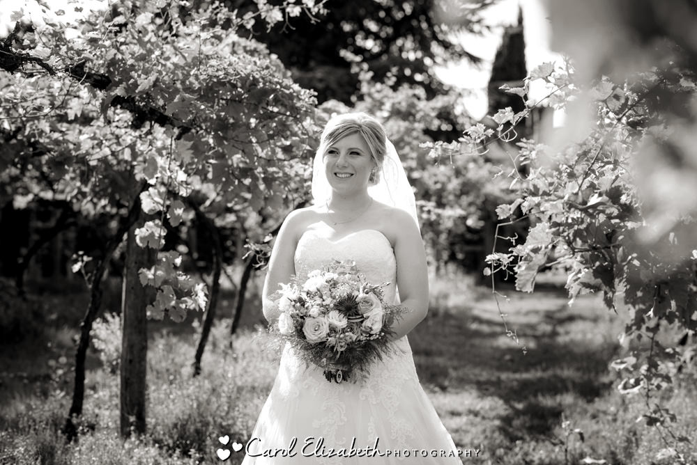 Bride in the vineyard