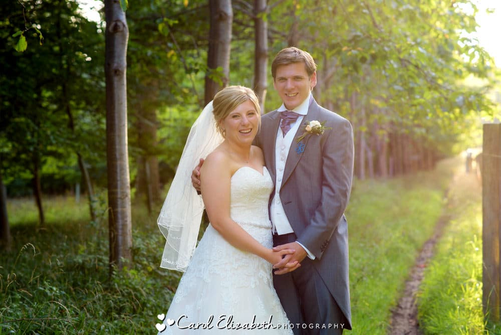 Summer wedding at Old Luxters Barn