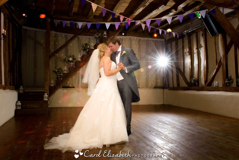First dance at Old Luxters Barn wedding