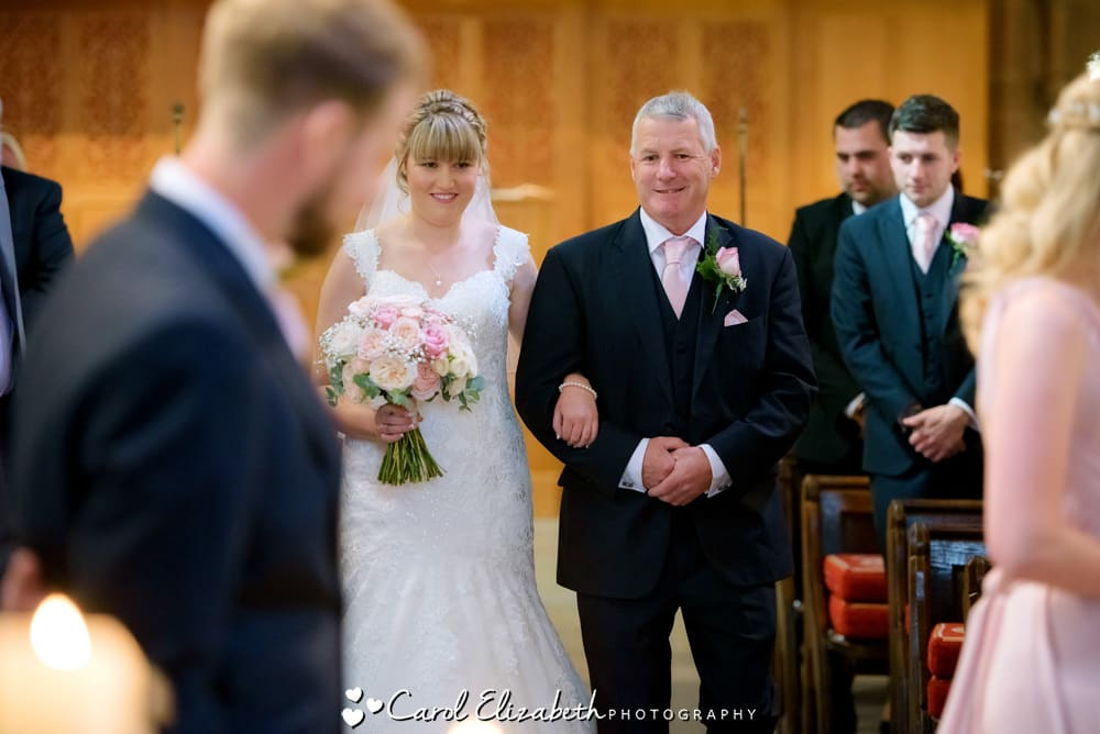 Church wedding photography in Oxford - bride and dad
