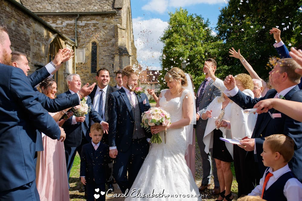 Church wedding confetti