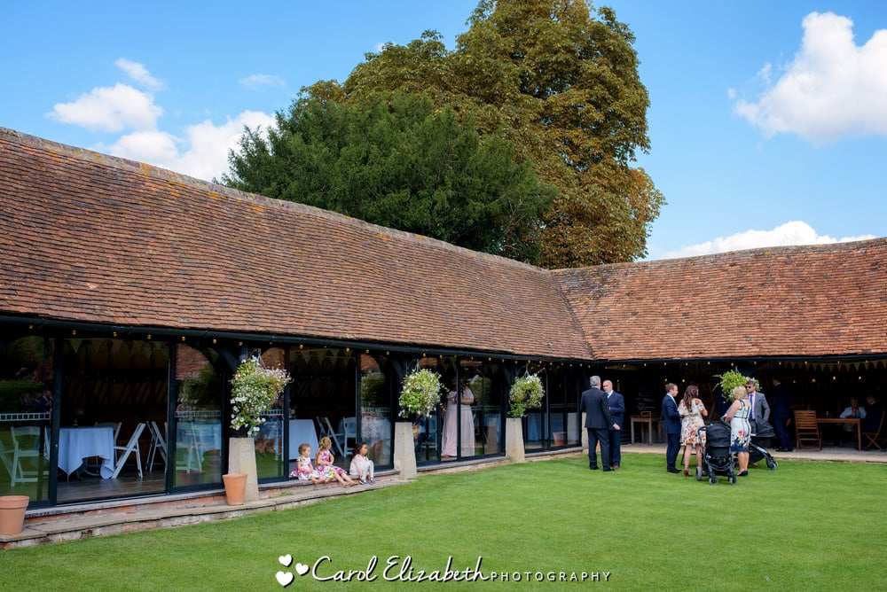 Relaxed wedding photography at Lains Barn