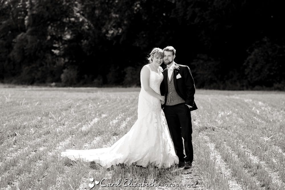 Wedding couple portraits at Lains Barn