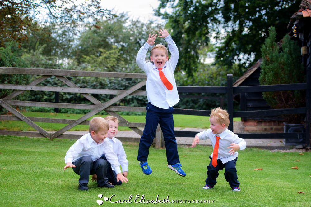 Children playing at the Lains Barn wedding reception