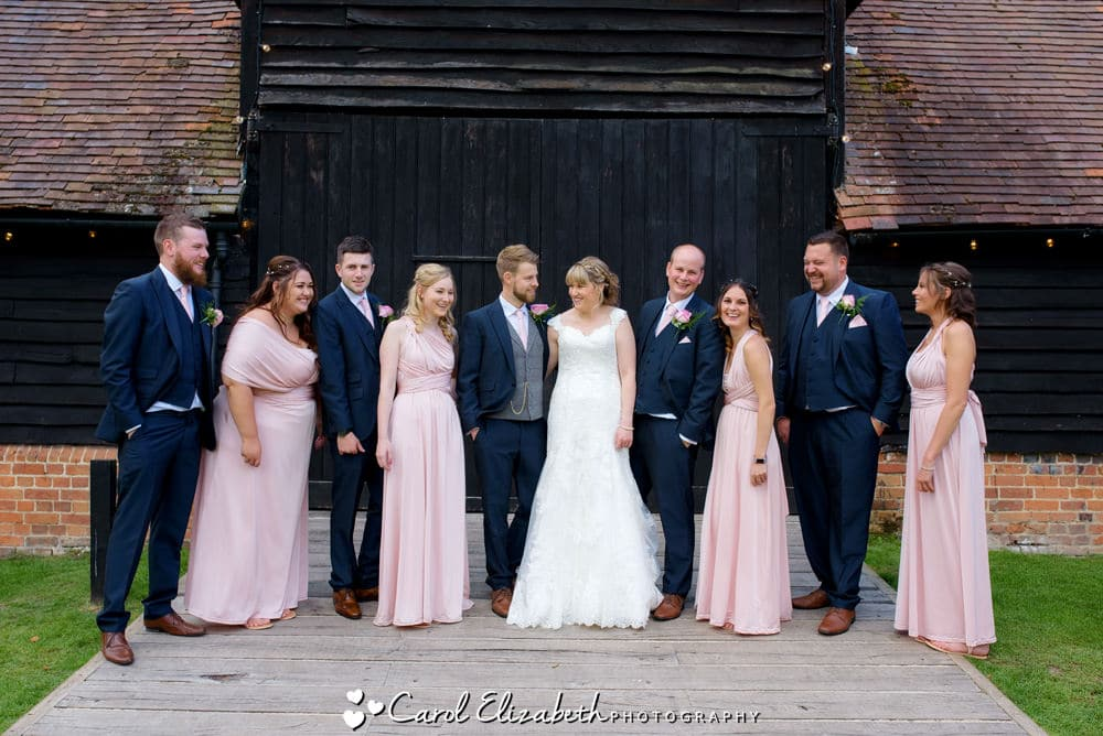 Relaxed and fun group wedding photos