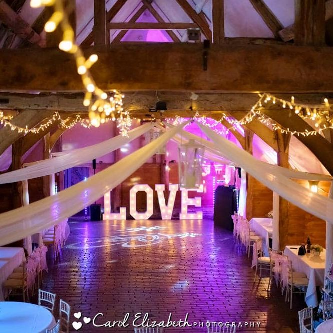 Lains Barn wedding reception
