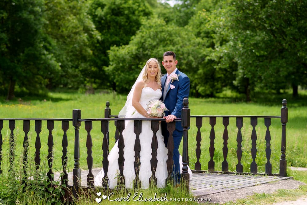 Milton Hill House wedding photos of bride and groom