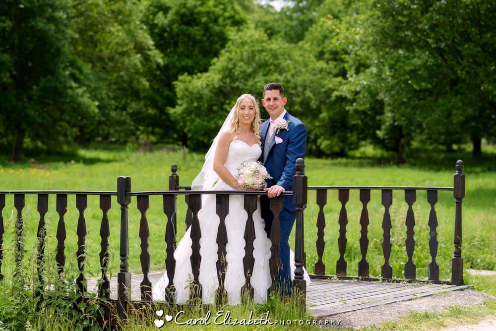 Milton Hill House wedding photos of bride and groom
