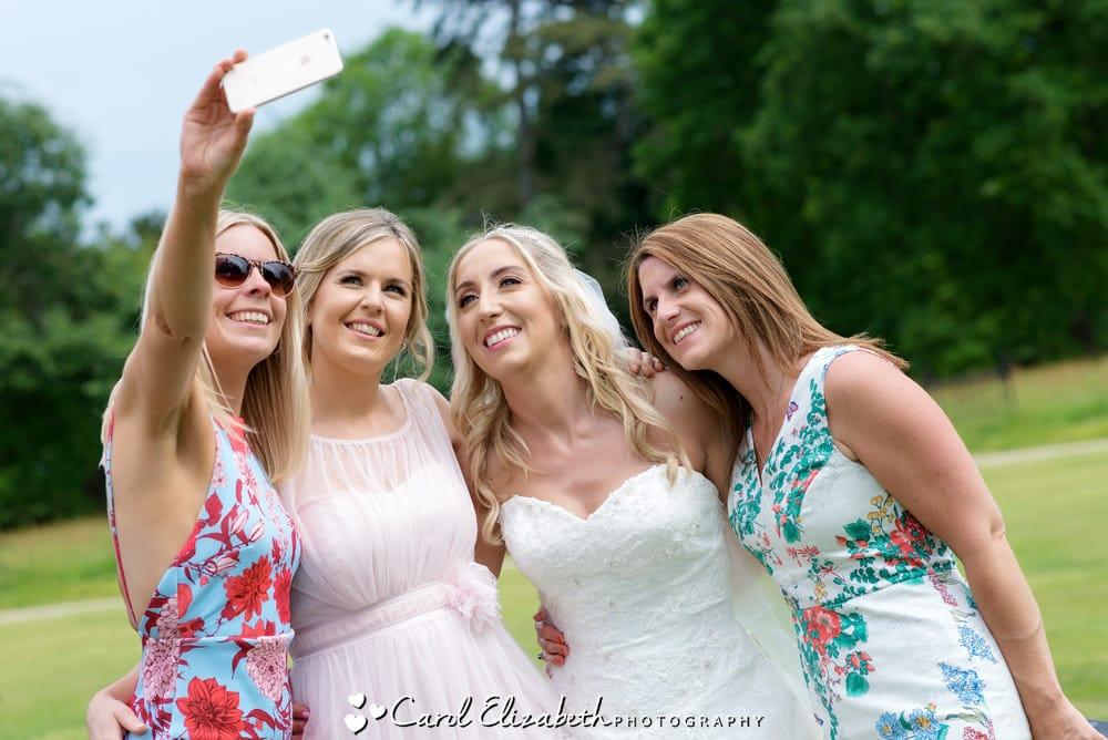 Fun wedding selfie at Milton Hill wedding