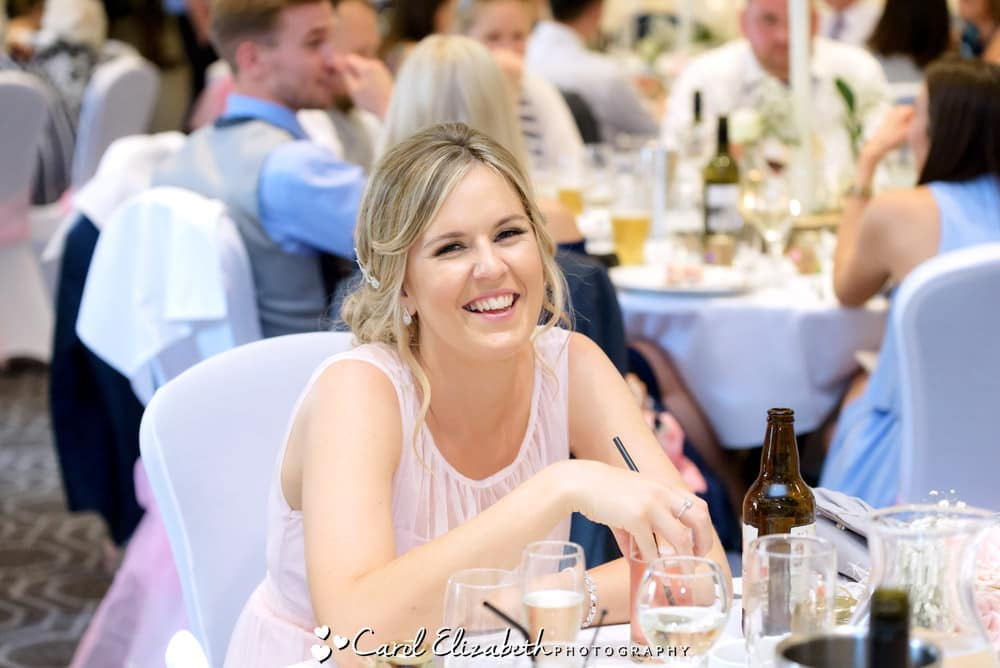 Reportage wedding photography at Milton Hill House of bridesmaid