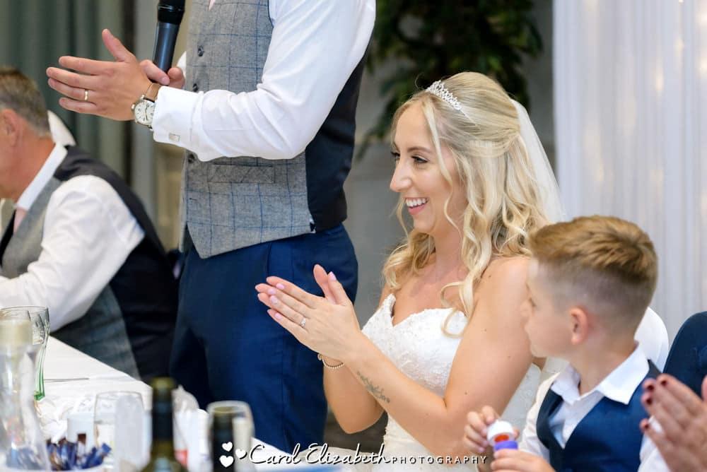 Weddings sppeches at Milton Hill wedding