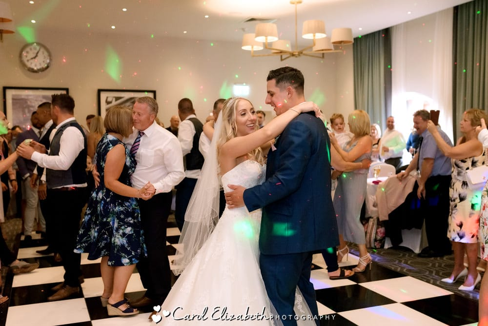 Bride and groom first dance at Milton Hill wedding reception