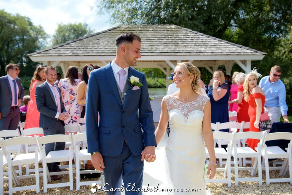 Outdoor summer wedding at Oxford Thames Sandford