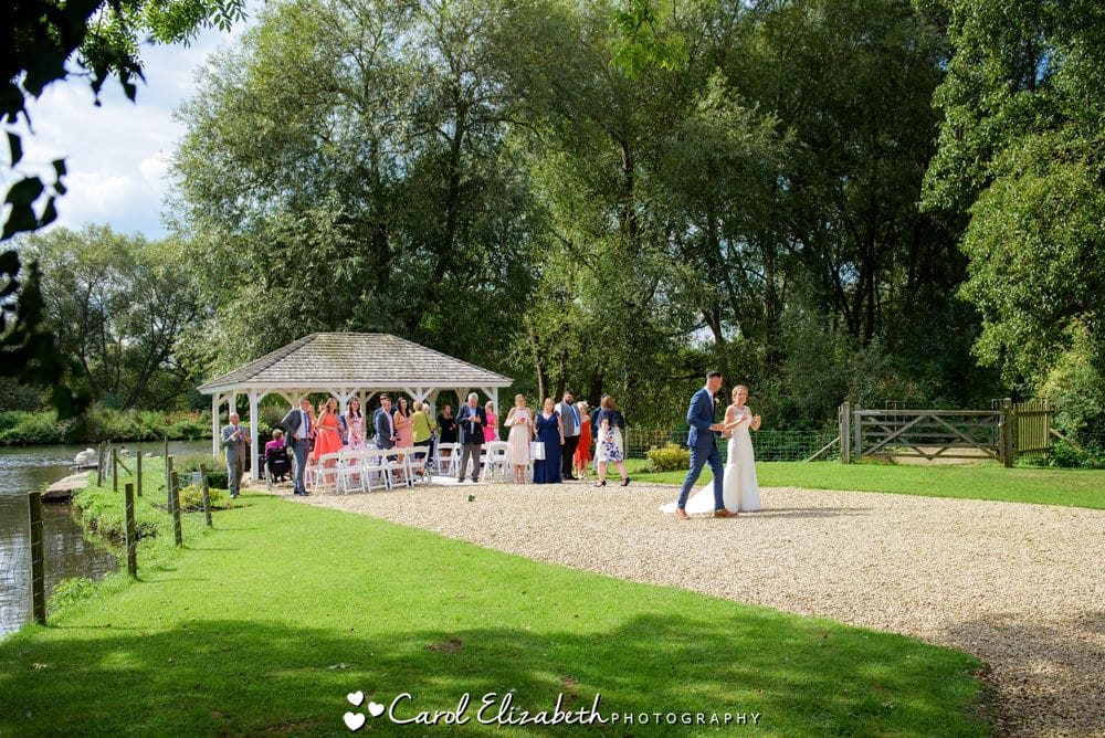 Outdoor wedding ceremony in Oxford