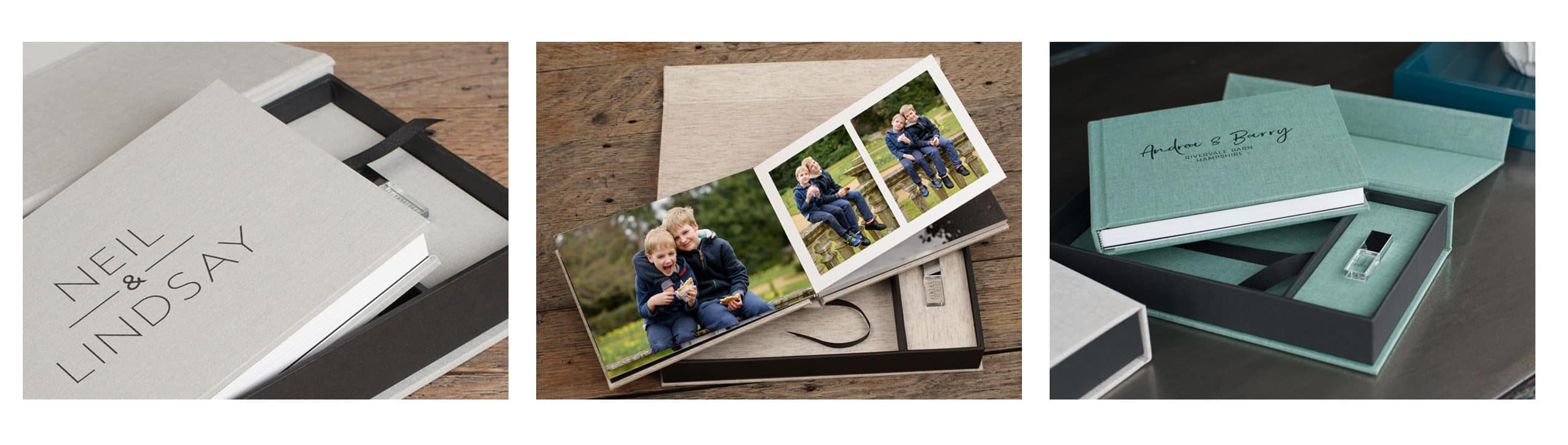 Digital album with usb for family photoshoots
