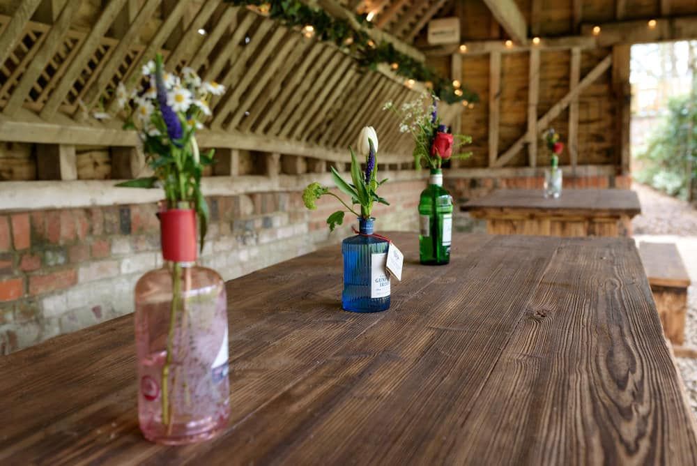 Decorations at Lains Barn wedding