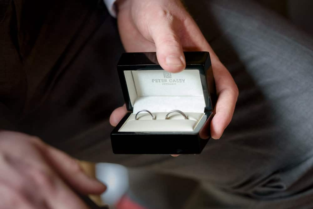 Wedding rings in the box